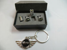 Premium Quality Stainless Steel Dust Caps With BMW Mini Logo & BMW Mini Keyring
