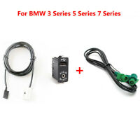Car CD Changer Stereo Audio Harness Wire Cable Switch Button AUX IN Kit For BMW
