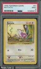 1999 Pokemon Game #61 Rattata PSA 9 MINT