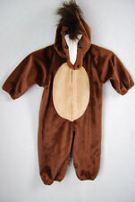 Children's Halloween Brown Horse Costume One Piece Size Small (2-3)
