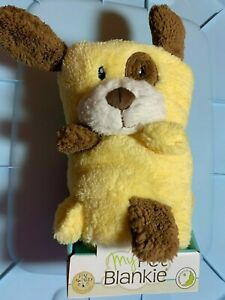 My Pet Blankie Yellow Dog 3-in-1 Baby Security Blanket, Pillow, & Plush Toy! NWT