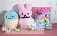 2 Scoops Jelly Beans, Egg Shaped Easter & Bunny Mustache Plush Lot x3