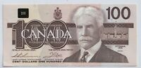 1988 Canada Bank Note $100 Thiessen Crow BJA9601381 UNC