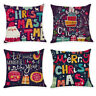 Home Decor Cushion Cover Merry Christmas Pillowcase Sofa Throw Pillow Covers