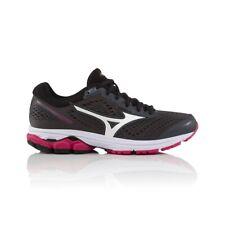 Mizuno Wave Rider 22 Women's Running Shoe - Dark Grey/White/Pink