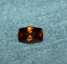3.92ct 10.53 x 7.03mm Fancy Cushion Cut Orange Zircon Loose Gemstone