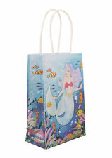 6 Mermaid Bags With Handles - Luxury Party Treat Sweet Loot Lunch Gift