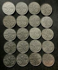 Old Canada Coin Lot - 1922-1936 - KING GEORGE V NICKELS - 20 Coins - Lot #L19