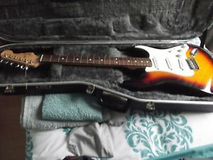 fender stratocaster mexican with hiscox case