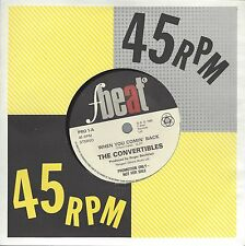 """THE CONVERTIBLES - WHEN YOU COMIN' BACK - UK 1980 PROMO ISSUE 7"""" VINYL - PRO 1"""