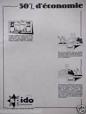 PUBLICITÉ 1930 SPIDO L'HUILE DE SÉCURITÉ 50% D'ÉCONOMIE - ADVERTISING