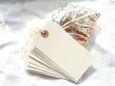 20 Large White  Blank Christmas Gift Tags  Strung White Luggage Labels