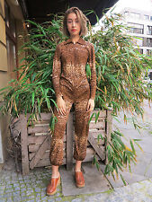 Modell Maria Noak Overall 80er Einteiler 80s TRUE VINTAGE jumpsuit leopard