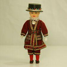 """Hard Plastic Beef eater Doll w/ Sleep Eyes 6"""" tall"""