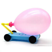 HN- AU_ DIY Balloon Powered Car Recoil Force Physics Experiment Educational Kids