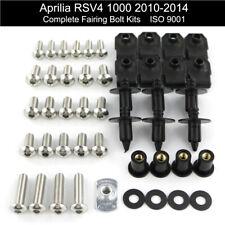 Motorcycle Stainless Fairing Bolt Kit Bodywork Screws For Aprilia RSV4 2010-2014