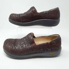 Alegria Womens Keli Clog Shoes Brown Paisley Slip Resistant Leather 9.5-10 EU 40