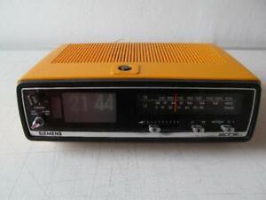 Klappzahlenwecker - Siemens alpha RG222 / gelb - 70er Jahre