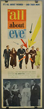 ALL ABOUT EVE 1950 ORIG. 14X36 MOVIE POSTER INSERT MARILYN MONROE BETTE DAVIS
