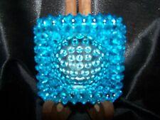VINTAGE HOBNAIL BLUE GLASS  Trinket Tray Or Ring Holder~~ FENTON