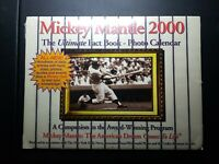 2000 MICKEY MANTLE PHOTO CALENDAR SEALED BRAND NEW AMERICAN DREAM COME TO LIFE