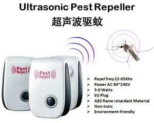 Ultrasonic Electronic Anti Mosquito Pest Reject Insect Repeller Nyamuk Repellent