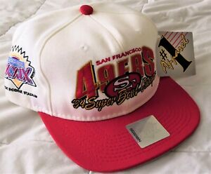VINTAGE San Francisco 49ers Super Bowl 29 Snapback Hat 1995 Mint NWT # 1 Apparel