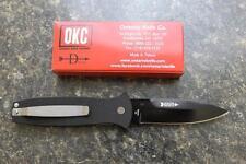 NEW Ontario Company Bob Dozier Arrow Black Plain Edge D2 Folding Knife 9101