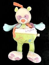 Doudou Panda Pandy Ours ma cachette à pyjama range pyj Babynat' Baby Nat' vert