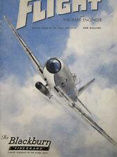 12/1945 PUB BLACKBURN FIREBRAND STRIKE AIRCRAFT ROYAL NAVY TORPEDO COVER AD