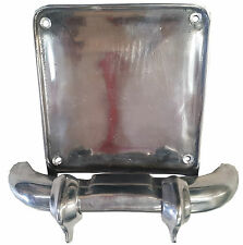 ukscooters LAMBRETTA ALLOY POLISHED NUMBER PLATE SURROUND BUMPER NEW