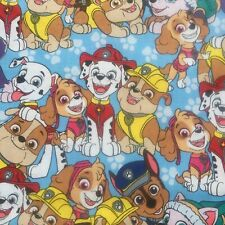 "Paw Patrol-FQ 18"" x 21""-100% Cotton-Quilting/Masks-Licensed-Great Graphics"