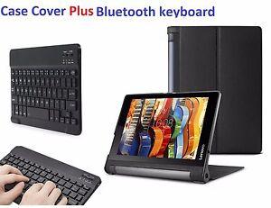 "Sottile Custodia Folio & Tastiera Bluetooth per Lenovo Yoga Tab 3 10.1 "" Tablet"
