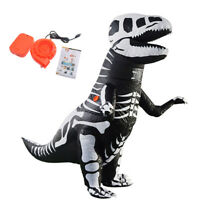 Inflatable Dinosaur Costume Halloween Cosplay Party + Mini Fan Blower