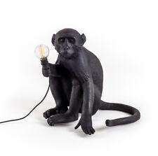 SELETTI lampada da tavolo MONKEY LAMP NERA a LED BLACK EDITION E14