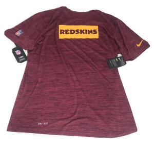 Nike NFL Washington Redskins Dri Fit Tee Shirt Burgundy Gold Men's Size Large