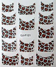 Accessoire ongles : nail art - Stickers décalcomanie - motifs léopard