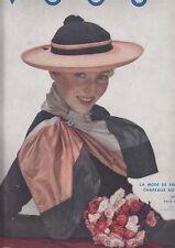 C1 Revue Mode VOGUE 1934 Hoyningen Hugen ERIC RBW Leon BENIGNI