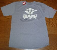Viva La Bam Margera Signed Element Skateboards Shirt Grey L PSA/DNA COA Jackass