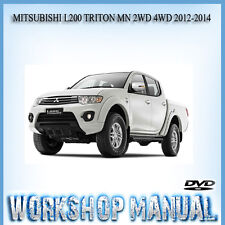 MITSUBISHI L200 TRITON MN 2WD 4WD 2012-2014 WORKSHOP SERVICE REPAIR MANUAL ~ DVD