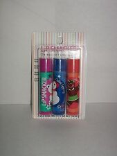 3 Lip Smacker SUGAR PLUM PARTY CHILLED EGGNOG GINGERBREAD COOKIE Lip Gloss New