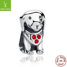 New Arrival 925 Sterling Silver Dog Beads Charms For Women Christmas DIY Jewelry