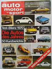 Auto Motor Sport 25/1970, Die Auto des Jahres, Dauertest: Simca 1100