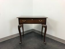Queen Anne Style Mahogany Side Table / Nightstand