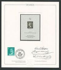 Spain No. 1 reprint UPU Congress 1984 Official delegate veneno!!! rare!!! z1798