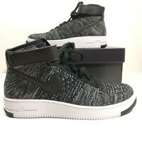 027ff7967d979 Mens Nike Air Force 1 Ultra Flyknit Mid Oreo Shoes 817420-004 Mutli Size