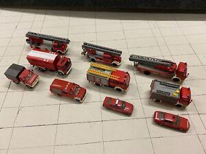 Konvolut 10 tlg. Feuerwehr Fahrzeuge Set Preiser, Herpa, Roco etc. Set 2