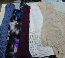 Women's Clothing Lot - Size Large Tops 5 pc Sweaters Blouse