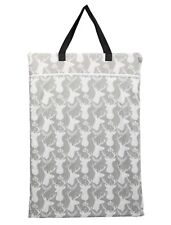 Large Hanging Wet Dry Pail Bag Cloth Diaper Insert Nappy Laundry Grey Deer