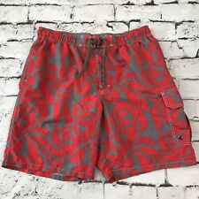 6a9500ac87 Sonoma Life Style Mens Sz L Board Shorts Swim Trucks Red Gray